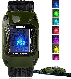 Kids Digital Sport Watch Outdoor Waterproof Watch LED...