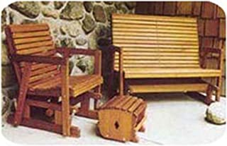 Woodworking Project Paper Plan to Build Glider Bench and Chair