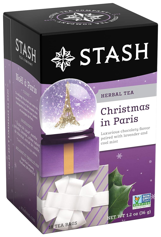 Stash Tea Christmas In Paris 18 Teabags in Foil (Pack of 6) Individual Herbal Tea Bags for Use in Teapots Mugs or Cups, Brew Hot Tea or Iced Tea