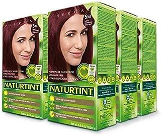 Naturtint Permanent Hair Color 5M Light Mahogany Chestnut (Pack of 6), Ammonia Free, Vegan, Cruelty Free, up to 100% Gray ...