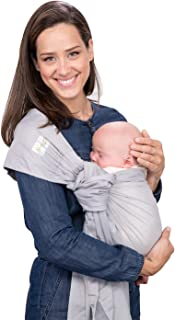 KanguroBaby Ring Sling Light Grey Baby Carrier OS, The Pocket Sling TM
