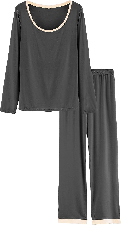Latuza Women's Scoop Neck Al Ultra-Cheap Deals sold out. Sleepwear Set Pajama Sleeves Long