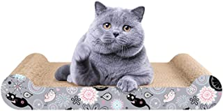 LIKEA Cat Scratcher Lounge Scratching Pads Reversible Cardboard with Organic Catnip, Protector for Furniture Couch Floor Eco-Friendly Toy