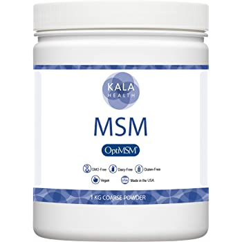 Kala Health - OptiMSM Powder Coarse Flakes (1 kg Container). This Pure MSM Supplement is the ONLY Methylsulfonylmethane Made in the USA - The Organic Crystals are Free of any Additives