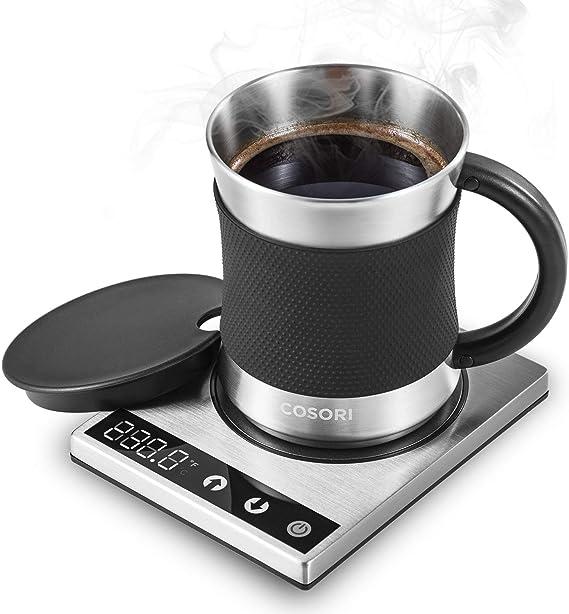 Cosori Coffee Mug Warmer & Mug Set Premium 24Watt Stainless Steel