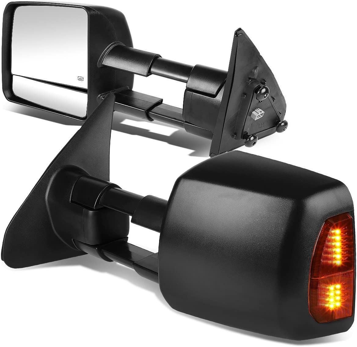 DNA Motoring TWM-038-T888-BK-AM Low price Towing Mirrors Brand new W Side Compatible