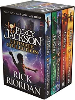 Percy Jackson & the Olympians 5 Children Book Collection Box Set (The Lightning Thief, The Last Olympian, The Titan's Curs...