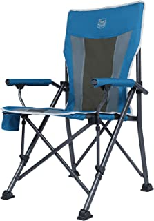 TIMBER RIDGE Ovesized Folding Camping Chair with Padded Hard Armrest, High Back Lawn Chair with Cup Holder, Portable Outdo...