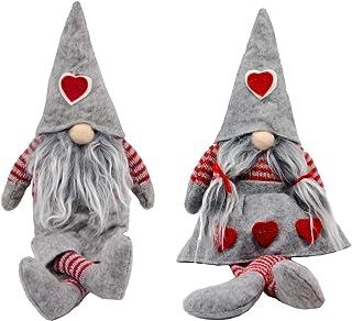 Alpurple 2 Packs Christmas Handmade Santa Gnome Plush -Newest Swedish Santa Gnome Plush Doll for Thanksgiving Day Gift,Hom...