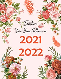 2021-2022 Feathers Two Year Planner: 2 Year Monthly Calendar Agenda with Holidays, See it Bigger and Plan Ahead Goal an...