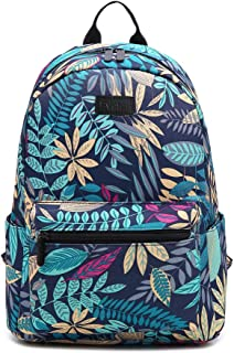Fvstar Floral Cute Teen Girls Canvas Backpack Mini School Bag Purse Canvas Backpack for Travel