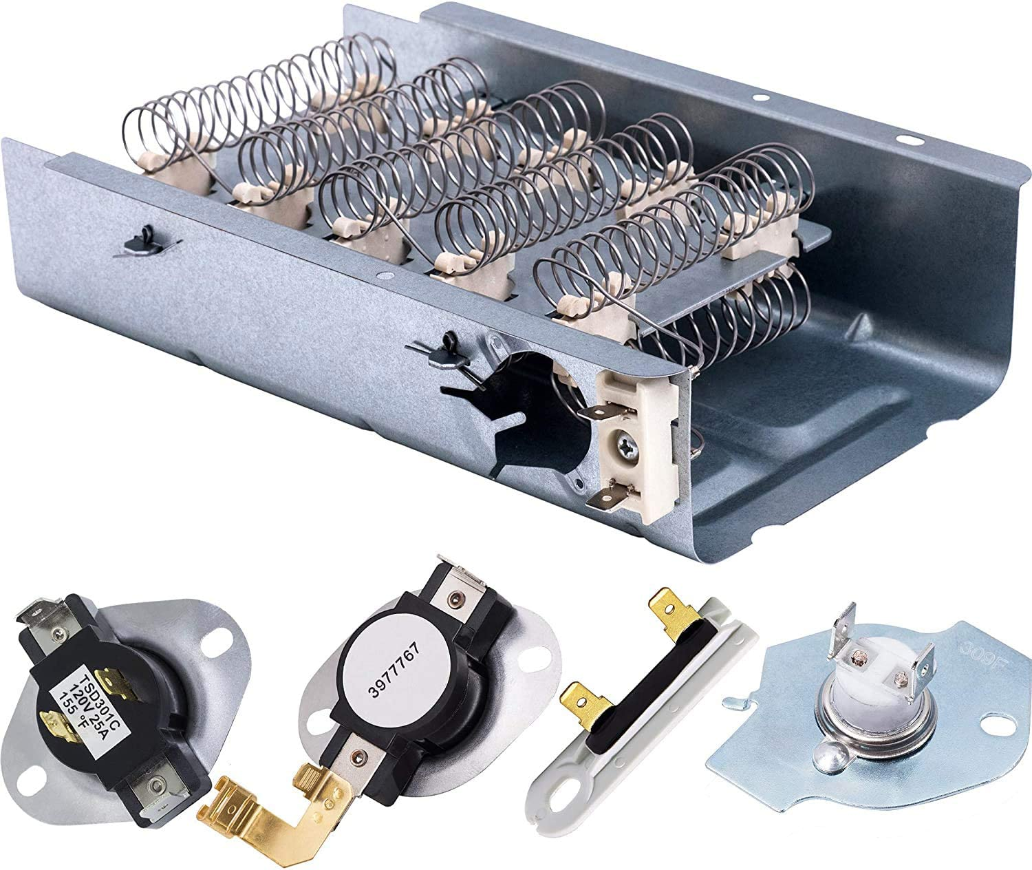 [NEW UPGRADED] 279838 Dryer Heating Element 3387134 3977767 Ther