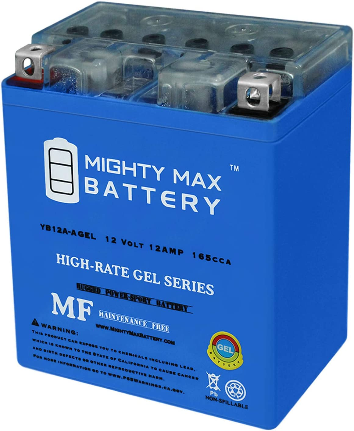 Mighty Max Battery Portland Mall 12V 12AH 45 Replaces Popular shop is the lowest price challenge Honda 165CCA Gel