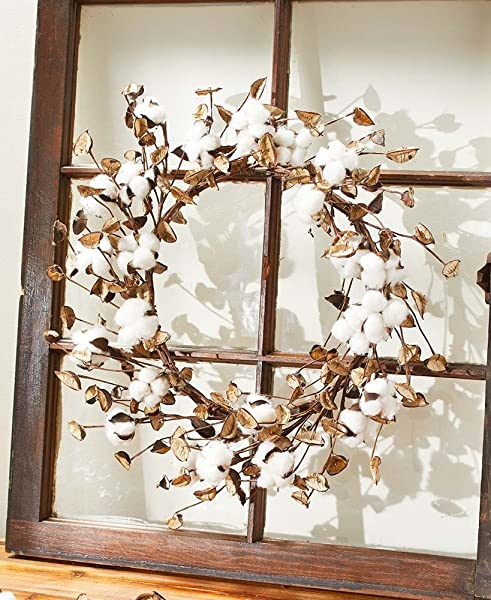 The Lakeside Collection Cotton Wreath