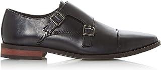 Dune Mens STEW Toecap Double Monk Shoes Flat Heel