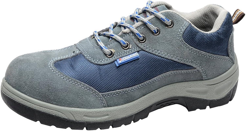 Ecextreme Män's Safety Safety Safety Steel -Toe Andningsbar Work skor  het försäljning
