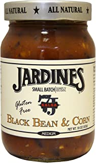 Jardine's 7J Ranch Medium Salsa, Black Bean and Corn, 16-Ounce