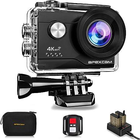 Apexcam 4k Action Cam 20mp Wifi Sports Kamera Ultra Hd Kamera