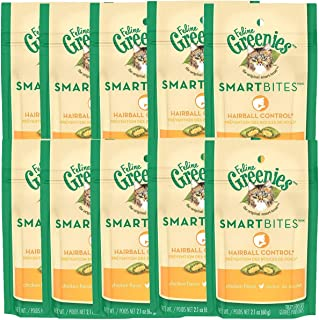 Greenies FELINE SMARTBITES Cat Treats, 2.1 oz (Pack of 10)