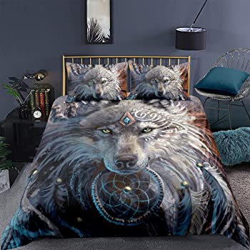 Sleepwish Blue Dream Catcher Bedding Desert Yellow Duvet Cover Vintage Feather Native American Bed Sets Full