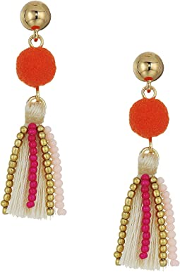 Rebecca Minkoff - Mixed Media Tassel Earrings