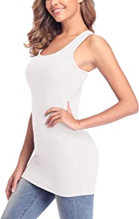 ALove Women Cotton Camisoles Tanks Top Adjustable Spaghetti Strap Cami Top 2 Pack
