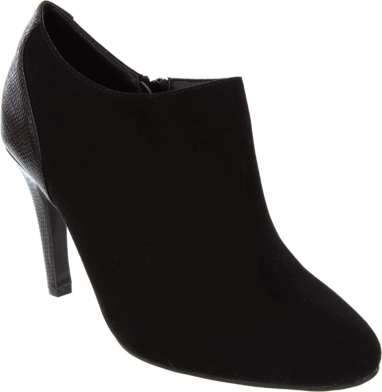 Dune London Head Over Heels Womens Ottili Micro Suede High Heel shoes Ladies Zip Ankle Boot