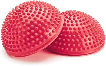 Merrithew Balance & Therapy Dome, Pair (Red), 6.5 inch / 16.5 cm Each
