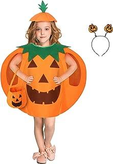 Halloween Pumpkin Costume Suit Included Clothes Headband Beanie Hat Pumpkin Bag