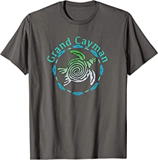 Grand Cayman T-Shirt Vintage Tribal Turtle Gift TShirt