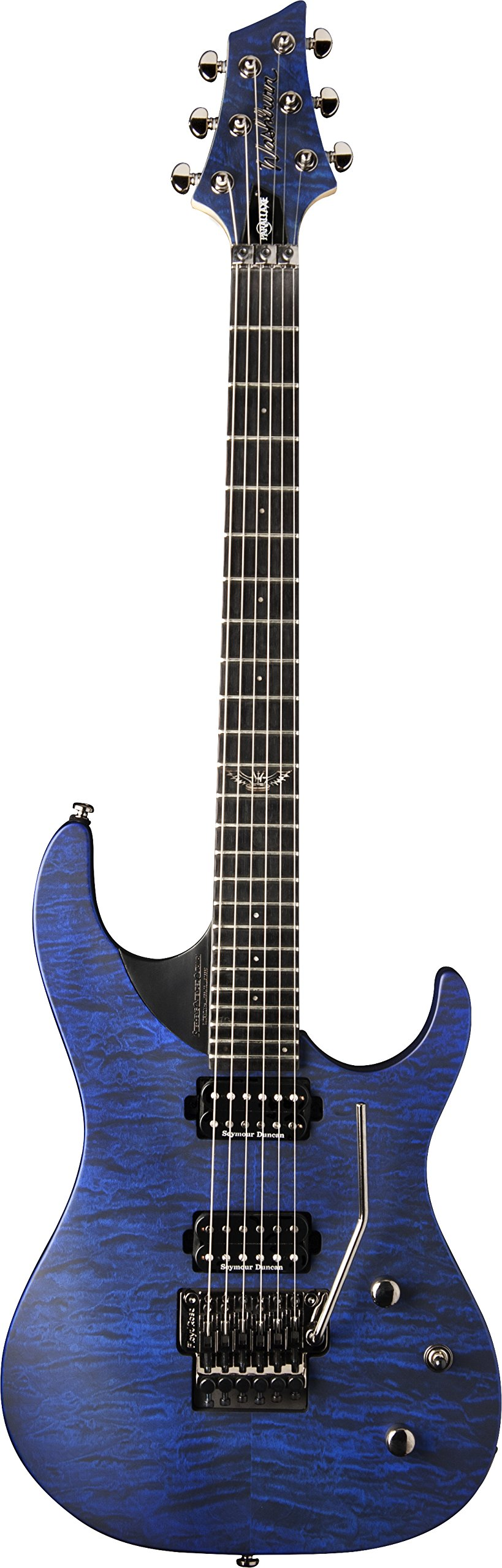 Cheap Washburn PXM10FRQTBLM Parallaxe PXM Series Solid-Body Electric Guitar Quilt Trans Blue Burst Finish Black Friday & Cyber Monday 2019