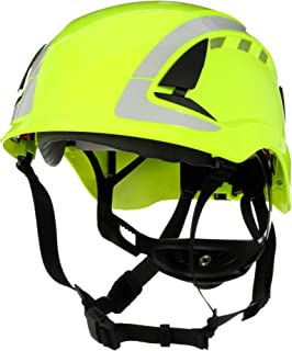 3M SecureFit Safety Helmet, X5014VX-ANSI, HVGreen, Vented
