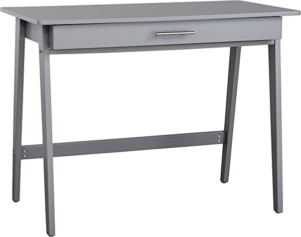 Target Marketing Systems 60707GRY Renata Wooden Home Office Desk Gray
