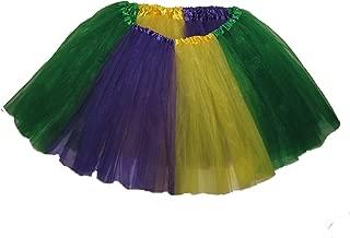 Adult to Plus Size Mardi Gras Tutu S to XXL Length 16