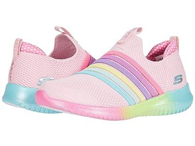 SKECHERS KIDS Sport Ultra Flex Brightful Strides (Little Kid/Big Kid) (Pink Multi) Girl