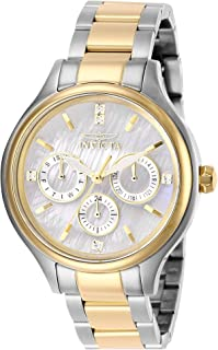 Invicta Women's Angel Quartz Watch with Stainless Steel Strap, Two Tone, 16 (Model: 28655)