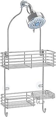 SMARTAKE Hanging Shower Head Caddy, Rustproof Bathroom Shower Shelf Organizer, SUS201 Stainless Steel Storage Rack for Toilet