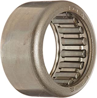 INA HK1712 Needle Roller Bearing, Caged Drawn Cup, Outer Ring and Roller, Steel Cage, Open End, Metric, 17mm ID, 23mm OD, 12mm Width, 14000rpm Maximum Rotational Speed