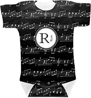 RNK Shops Musical Notes Baby Onesie (Personalized)