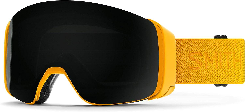 PlayBetter Smith Optics 4D MAG Snow Goggles Bundle Includes Bright /& Low Light ChromaPop Lenses Helmet Helper /& Hard Case Retractable Microfiber Towel