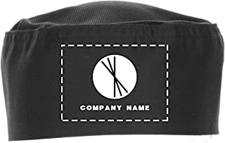 Chef Works Custom Embroidered Black Cool Vent Beanie, S/M