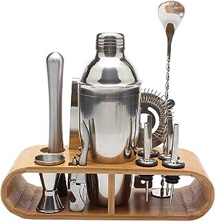 Cocktailshaker-set met houten standaard, 750 ml barman-set, Martini-barman-bargereedschap, accessoires voor thuisbar Drank...