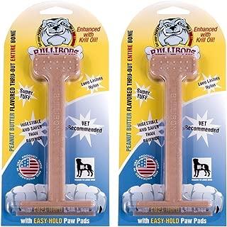 Bullibone Nylon Dog Chew Toy Large Nylon Bone - Improves Dental Hygiene, Easy to Grip Bottom, and Permeated with Flavor