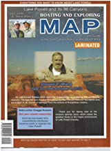 Lake Powell and Its 96 Canyons Boating and Exploring Map Gloss Laminated