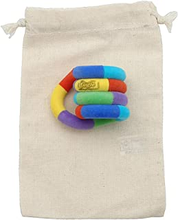 TANGLE Jr. Fuzzy Fidget Toy in Cotton Drawstring Carry Bag