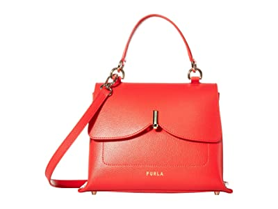 Furla Ribbon Medium Top-Handle (Fuoco) Handbags