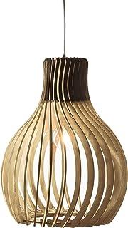 Opis PL2 clair – Lampe suspension en bois clair composée de pièces élégantes et incurvées