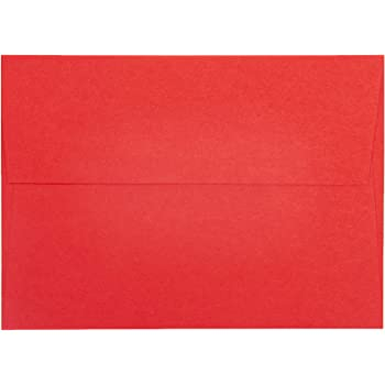 Limited Papers A9 Envelopes, 100 Piece, Red