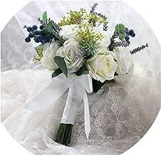 Wonderful You Flores de Seda de Marfil Peonías Ramo de Novia Rosas a la Venta Ramo de Novia Dama de Honor con Flores Decoración Rústica, Igual Que la Foto