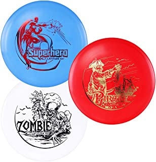 D·D DYNAMIC DISCS Latitude 64° SPZ Disc Golf Starter Set | Set Includes a Base Plastic Superhero, Pirate, and Zombie | Beg...